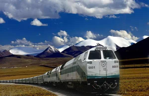 The world highest train traversing on 5072m